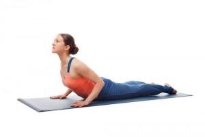 Hip flexor stretch using cobra pose correctly