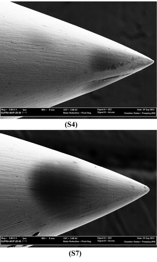 Electron Microscope Image of High Quality Acupuncture Needle