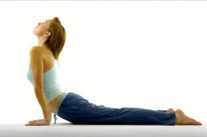 Hip flexor stretch using cobra pose incorrectly